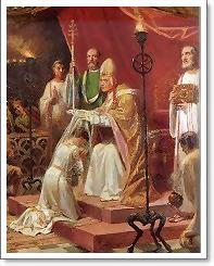 Consécration de Marcelline avec le pape Libère en 352