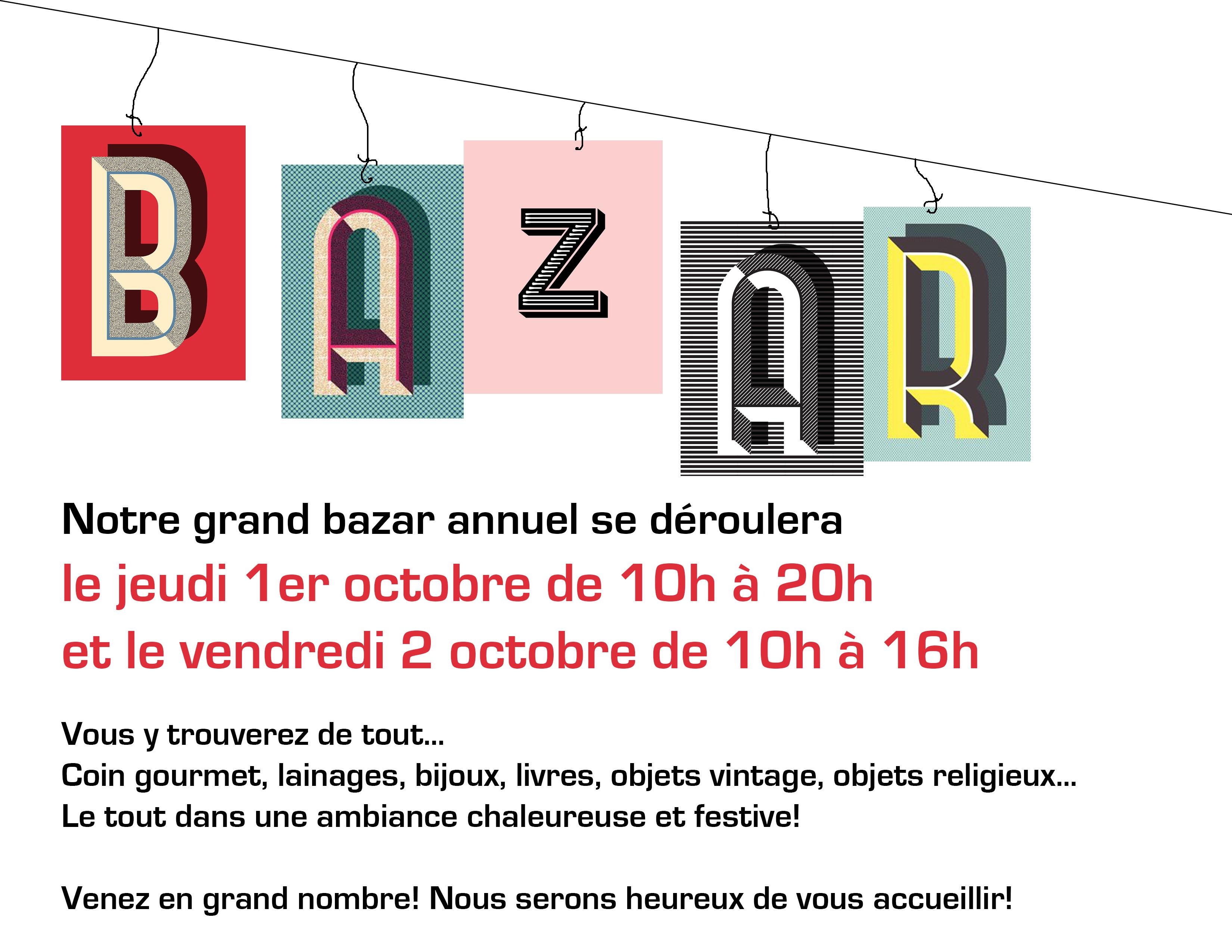 Annonce Bazar 2015