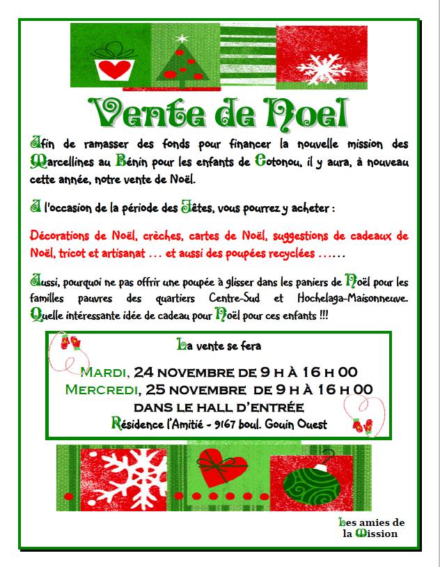 Vente de Noel Bénin 2015