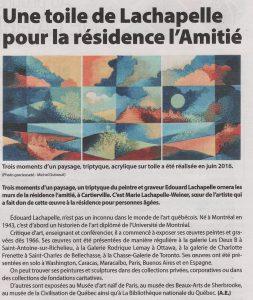 """""""Trois moments d'un paysage"""" d'Édouard Lachapelle"""