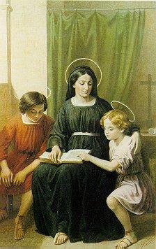 Sainte Marcelline avec ses 2 frères